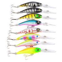 43Pcs/set Mixed Fishing Lure Set Artificial Catfish Minnow Fishing Tackle Hard Bait