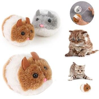 Di modo Gattino Giocattoli Bite giocattolo Sveglio Della Peluche Pelliccia di 1PC New Pet Piccolo Movimento Interattivo Ratto Del Mouse Scossa Divertente Gatto giocattolo
