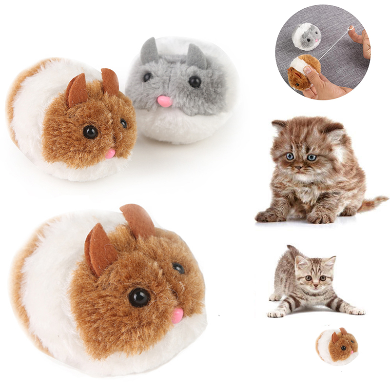 Fashion Kitten Toys Bite Toy Cute Plush Fur 1PC New Pet Little Interactive Movement Rat Mouse Shake Funny Cat Toy