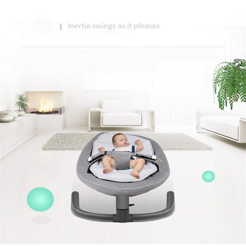 Briljant Pasgeboren Baby Swing Uitsmijter Schommelstoel Voor Baby Bebek Salincak Aluminium Baby Slapen Mand Automatische Cradle Bebek Salincak