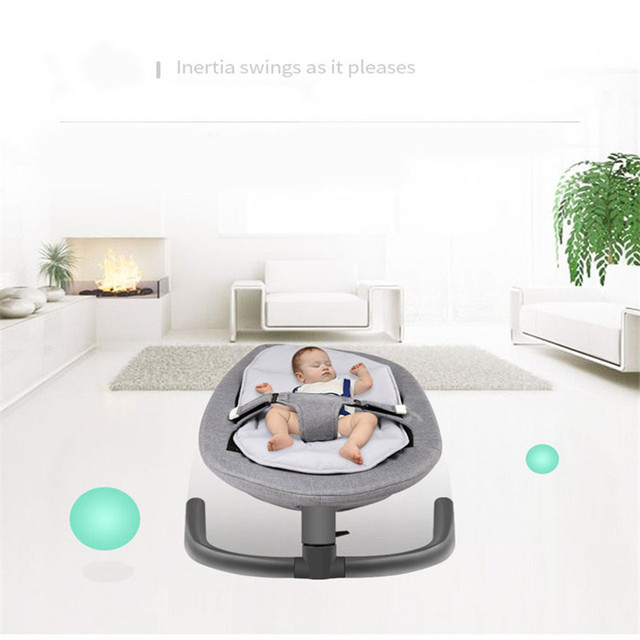 Recién Nacido bebé gorila silla mecedora bebé silicona Salincak de aluminio bebé durmiendo cesta automática cuna silicona salincak