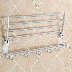 Moderno duplo fixado na parede do banheiro toalha de banho trilhos titular rack de armazenamento prateleira