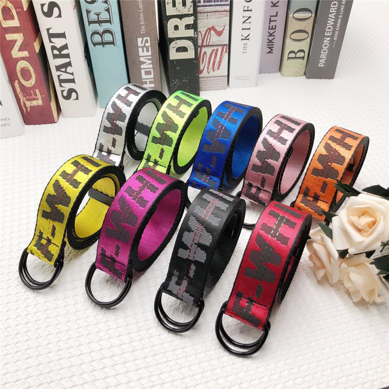 Belt   100-200cm Street Style Canvas White Letter Print   Belt   Industrial Letters Canvas   Belt   Women Men Punk Embroidery Waist Strap