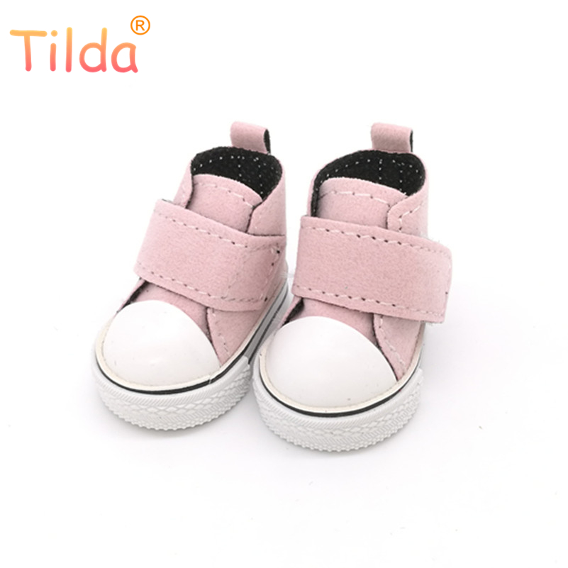Tilda 5cm Shoes For Dolls BJD Toy Casual 1/6 Gym Sneakers For EXO 20cm Korea KPOP Plush Dolls Accessorries For Rag Dolls Toy