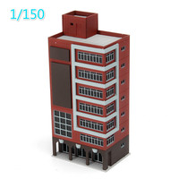 DIY 1/150 Scale Sand Table Architectural Scene Model Animation Scene Hard Plastic Assembly Building Install By Yourself