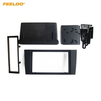 FEELDO 2Din Car Stero CD/DVD Radio Frame Fascia for Audi A4 2000 2004 Dash Panel Face Plate Bezel Trim Mount Kit #1996