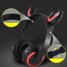 New Gaming Headphones Headset wired/wireless Gamer Cute Cat Earphone Microphone for PS4 Phone PC Laptop Kids Headphones for Girl недорого