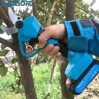 Беспроводные секаторные ножницы Быстрая зарядка двойной батареи, литий ионная аккумуляторная батарея электрический беспроводной, садовые