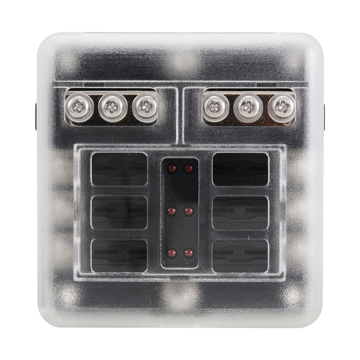 12V 24V Plastic Cover Fuse Box Holder 6 Way Blade Fuse Block Case With LED Indicator Display for Car Truck Marine Bus RV Van in Fuses from Home Improvement