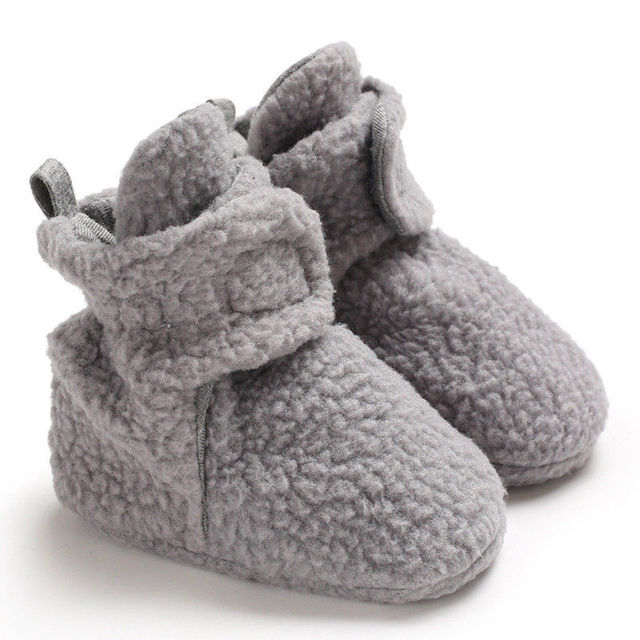 97e5e926f US $2.15 10% OFF|Aliexpress.com : Buy Unisex Baby Newborn Faux Fleece  Bootie Winter Warm Infant Toddler Crib Shoes Classic Floor Boys from  Reliable ...