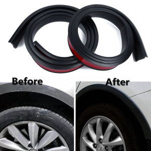 Image 3 - 2pcs 1.5 m Universal Rubber Car Wheel Arch Protection Moldings Anti collision Mudguard Car Wheel Protection Wheel Sticker