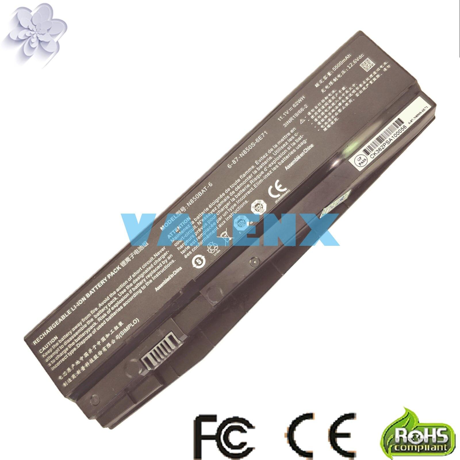 6 87 N850S 6U7 6 87 N850S 6E7 N850BAT 6 batería para Schenker tecnologías XMG A517 para CLEVO N850HC N850HJ N850HJ1 N850HK1Baterías para ordenador portátil   -