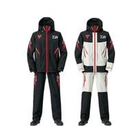 Daiwa DR 1508 Мужская водонепроницаемая куртка дождевик с капюшоном зимний комплект одежды для рыбалки дышащий с длинным рукавом Одежда для рыба