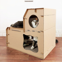 4 Pieces / Lot Thicking Typer Corrugated paper cat house villa gripper playground cat scratch board toys layers