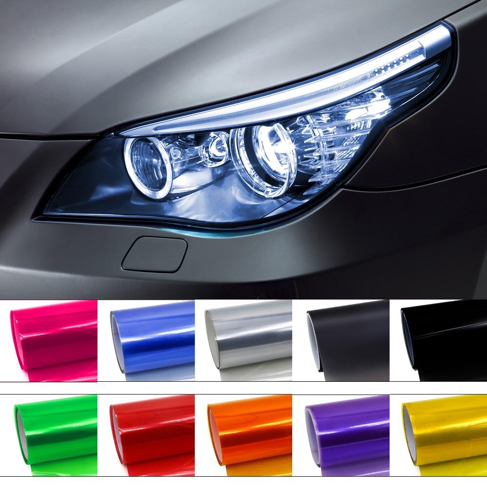 DIY Auto Car Tint Vinyl Film Sheet Sticker For Fog Light Headlight Taillight