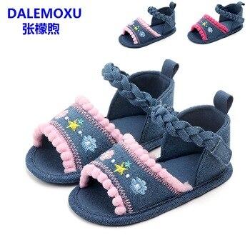 Verano Zapatos De Niñas Mezclilla Borla Suela Nacido Niña Antideslizante Recién Sandalias Bebé 1 Dalemoxu Infantil Suave Casuales UMLSzpqVG