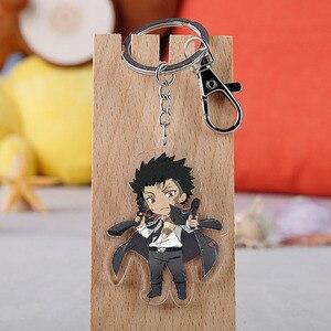 Anime Hitman Reborn Keychain Japanese Cartoon Tsunayoshi Hibari Kyoya Hayato Acrylic Car Key Holder Chain Pendant Keyrings(China)