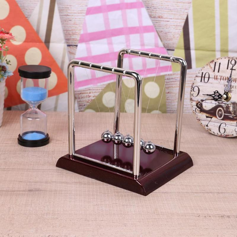 Home Newton Cradle Steel Balance Ball Physics Science Pendulum Desk Table Decor Toy School Early Childhood Education Supplies