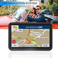 New 5 inch Touch Screen Car GPS System RAM256M+ROM8GB FM AV IN SAT NAV With Free Map Travel GPS Locator Tracker GPS Navigation