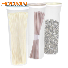 HOOMIN для круп зерна овсянка орехи, бобы контейнер спагетти коробка для лапши пластиковый для хранения еды коробка Кухня инструменты свежесть запечатаны