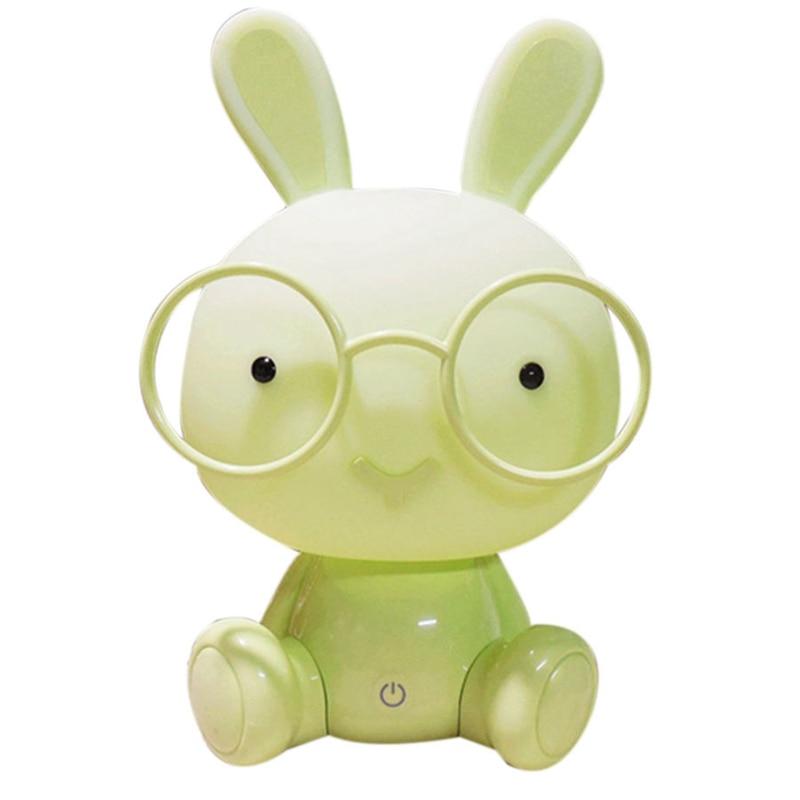LICG-US Plug Modern Cute Baby Bedroom Lamp Rabbit Night Light Led Night Lamp Christmas Gift Bedside Decor Kids Lovely Glasses