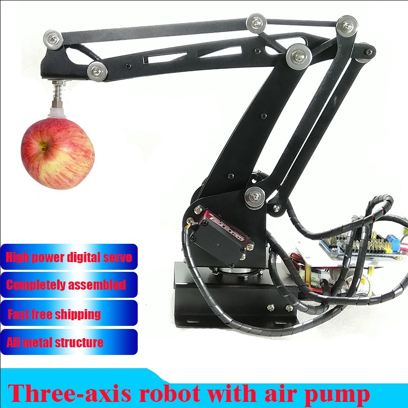 Pump Mechanical Robot Arm Suction Cups Simulation Industry Manipulator Glass Fiber Stand With Full Digital Servo +controller