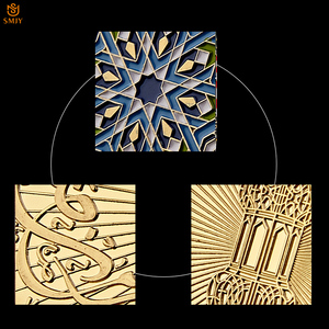 Image 4 - Ramadan kareem octogonal árabe saudita islâmico ouro chapeado réplica colecionável moeda e presente de férias