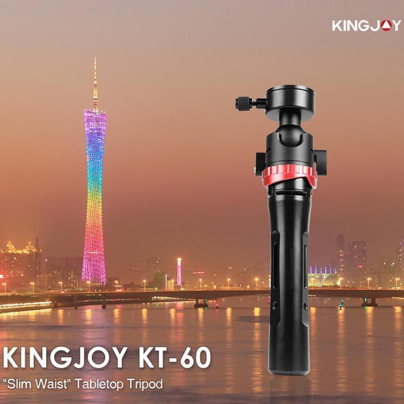Kingjoy KT-60 Mini caméra trépied réglable Stable table trépied de bureau avec 360 degrés Ballhead Bear 3kg pour appareils photo DSLR - 5