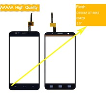 10Pcs/lot For Alcatel One Touch Flash OT6042 OT 6042 6042D Touch Screen Touch Panel Sensor Digitizer Front Glass Touchscreen lcd for alcatel one touch flash 6042 ot6042 6042d lcd display touch screen digitizer panel assembly for alcatel one touch flash