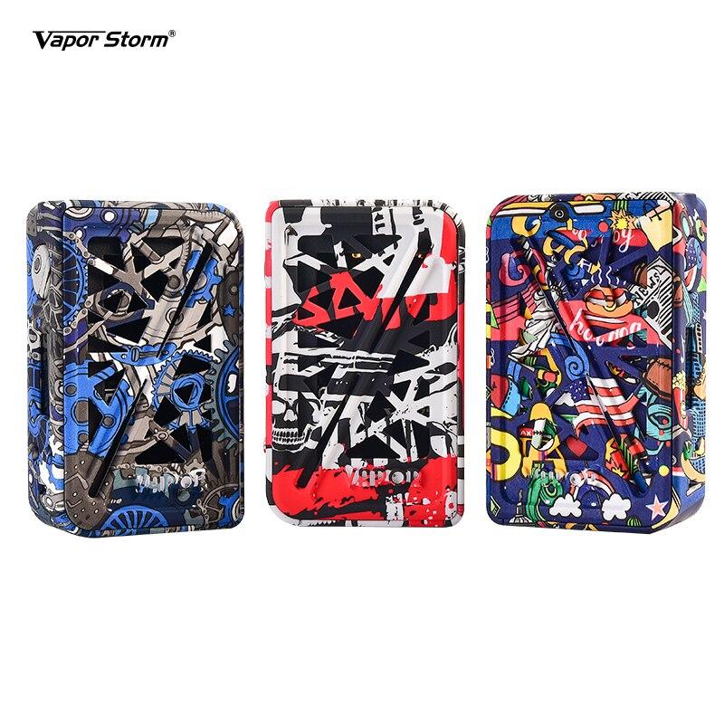 Vapeur tempête Subverter 200 W boîte Mod TFT couleur écran Graffiti Cigarette électronique sans double batterie 18650 TC Vaper Mod Punk