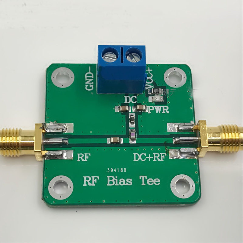 RF Biaser 1MHz-6000 MHZ 6GHz Bias Tee Broadband DC blocker Coaxial feed for HAM radio RTL SDR LNA Low Noise Amplifier image