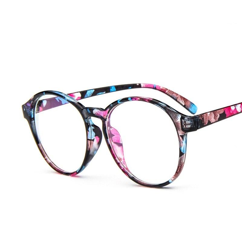 Retro Fashion Vintage Glasses Women Clear Lens Eyewear Oval Nerd Glass Frame Attractive Party Selfie Pose Lady Soild Glasses in Men 39 s Eyewear Frames from Apparel Accessories
