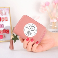 Womens Coin Purse Short Zipper Bag Cute Fashion Small Fresh Mini Wallet Lady