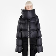 2018 Fashion Short Winter Jacket Coat Women Windproof High Collar Warm Loose White Duck Down Jacket Female Feather Parka Ls171 цены онлайн