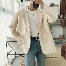 Новинка года; сезон весна-лето; трендовый красивый костюм в Корейском стиле; повседневная куртка свободного кроя из хлопка