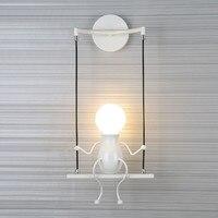 5 w criativo led luminária de parede moderna decoração interior branco ou quente luz branca ao lado da lâmpada parede AC85-265V cf