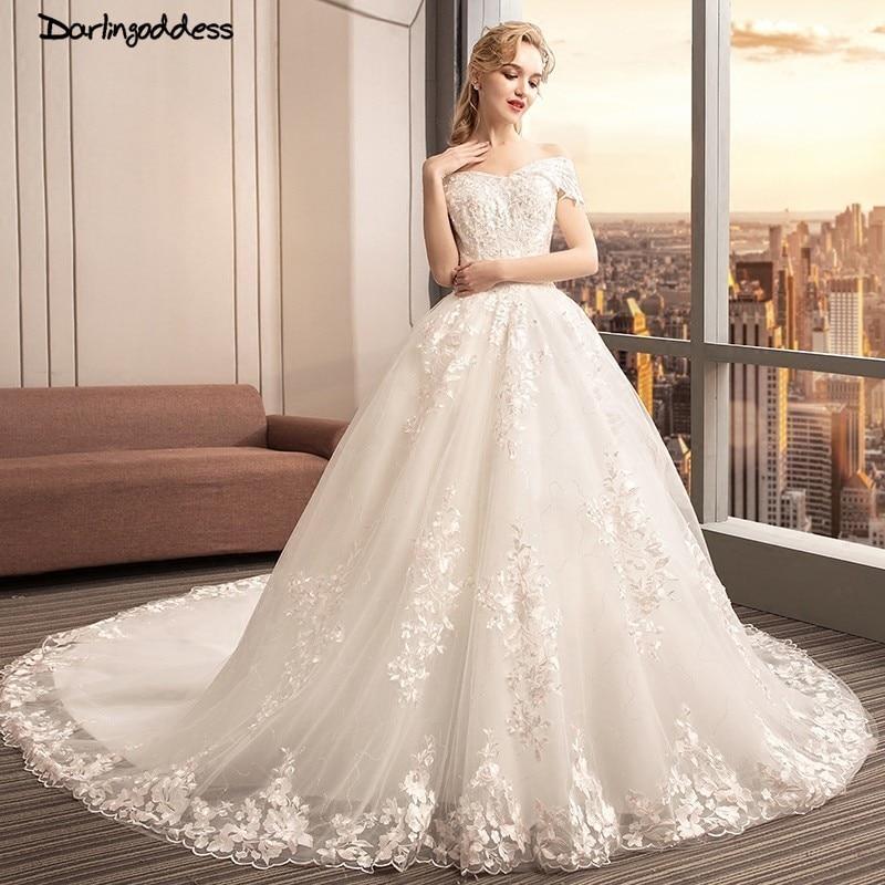 Vestido De Noiva 2018 Princess Wedding Dress Ball Gown Off: Robe De Mariee 2018 Princess Wedding Dresses Off Shoulder