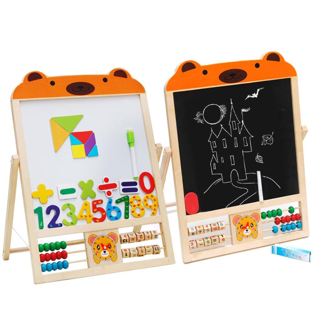Медвежонок магнитная доска для письма 3D головоломка Деревянный развивающий рисунок дети детские игрушки подарок