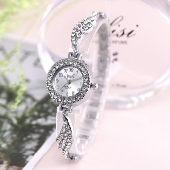 Hot Brand Luxury Bracelet Women Watches Fashion Quartz Crystal Rhinestone Watch Ladies Casual Dress  Wrist Watches Reloj Mujer yaqin fashion elegant women s rhinestone quartz watch lady casual luxury dress bracelet watches diamond crystal clock
