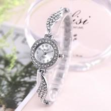 Hot Brand Luxury Bracelet Women Watches Fashion Quartz Crystal Rhinestone
