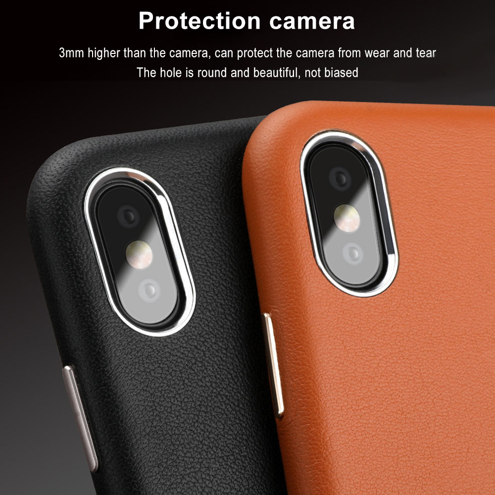 Image 3 - Luxury Phone Case for iPhone XS Max 7 X XR 8 6S Plus Cases Original Genuine Leather Hard Coque Cover Shockproof Protection Shell-in Half-wrapped Cases from Cellphones & Telecommunications