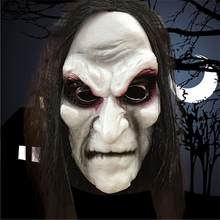 Scary Black Long Hair Blooding Ghost Mask Cosplay Halloween Costumes Zombie Mask Ghost Festival Horror Masks Party Prop(China)