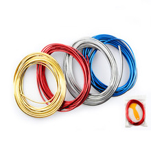 Hiyork 5M Car Styling Interior Decoration Strip Moulding Trim Dashboard Door Edge Universal For Cars Auto Accessories Strips PVC 3 7 meter interior moulding trim strip decoration thread dashboard sticker decals door air outlet auto accessories car styling