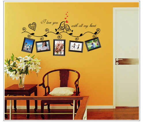 Family Tree Wall Decal Sticker Large Vinyl Photo Picture Frame Removable NEW