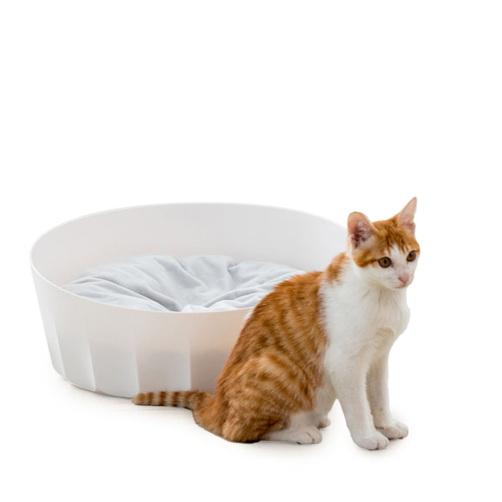 Nouveau Pet nid lit rond doux chiens paniers chat couverture blanc garder au chaud pour les chats chiot lits chatterie pour Xiaomi Jordan & Judy
