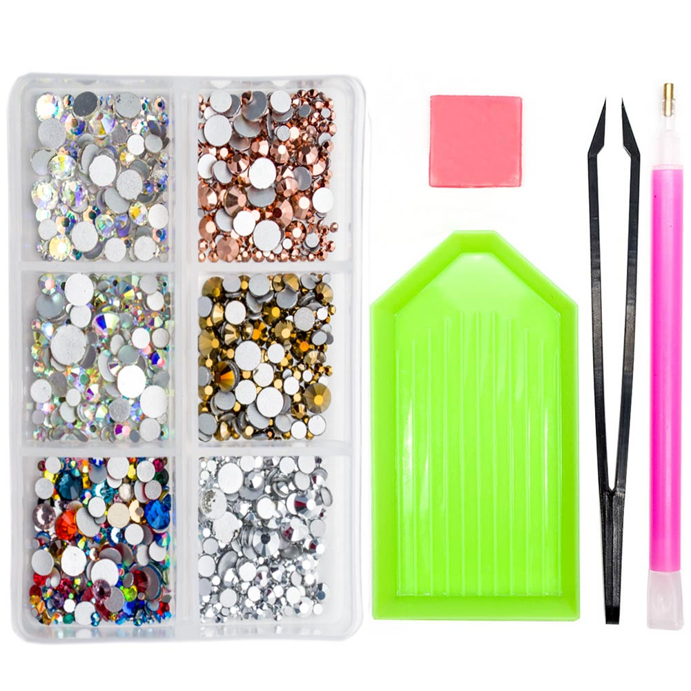 SS3-SS20 Mix Crystal AB Rhinestones for Nails Glass 3D Nail Art Decorations Flat Back Charms Nail Stones <font><b>Accessoires</b></font> MJZ1006 image