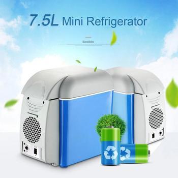 7.5L Mini Portable Cooling Warming Car Refrigerators Freezer Cooler Travel Warmer For Auto Car Home Outdoor Picnic Travel