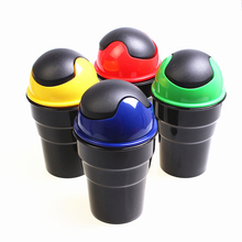 Universal mini new car garbage can trash dust case holder bin car-styling Bucket Accessories