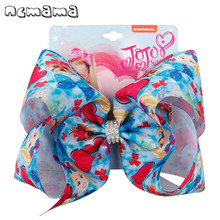 ncmama 8 Jumbo Hair Bows for Girls Clips with Handmade Rhinestone Fashion Party Kids Hairgrips Jojo Accessories