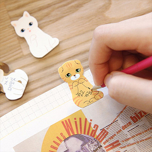 1PCS Kawaii Stationery Memo Pad Bookmarks Creative Cute Animal Sticky Notes School Supplies Paper Stickers 2018 Wholesale
